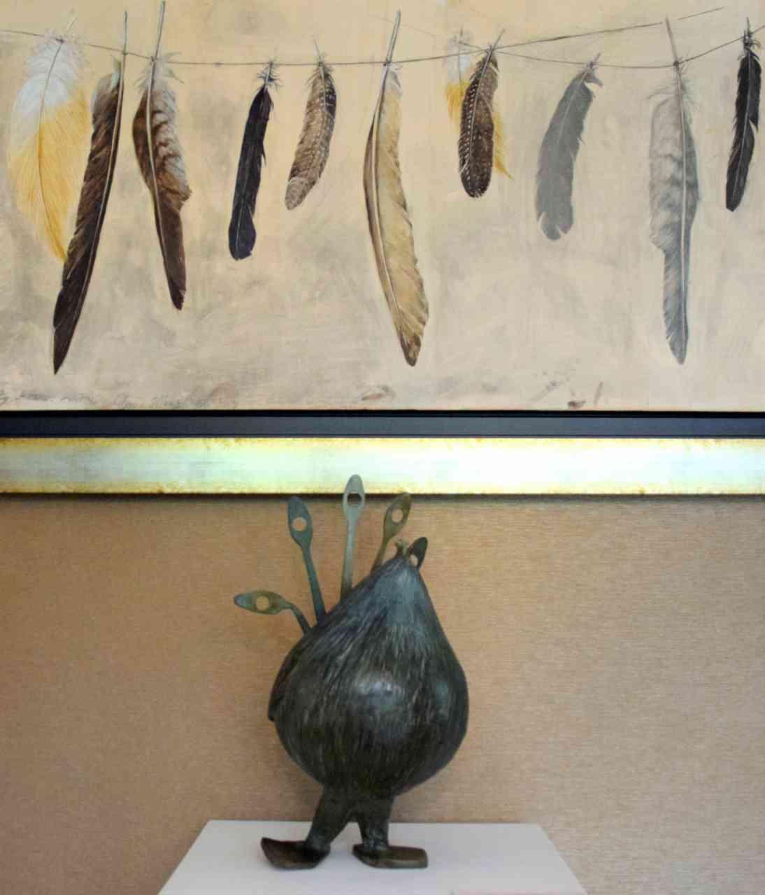 Permanent exhibition at le jardin des plumes pascale for Le jardin des plumes