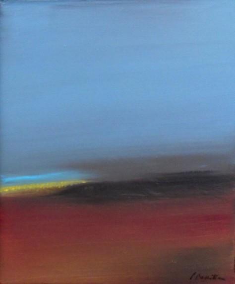 Huile sur toile BLEU DU CIEL H30 x L25 cm