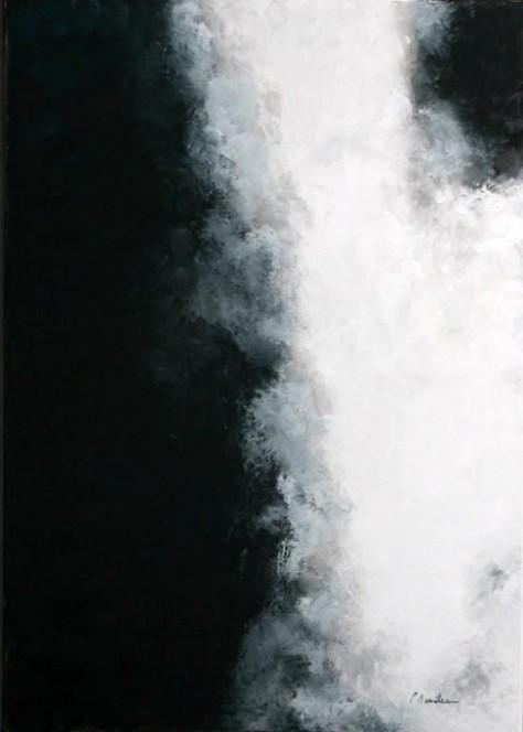 Peinture Huile sur Toile - Cascade