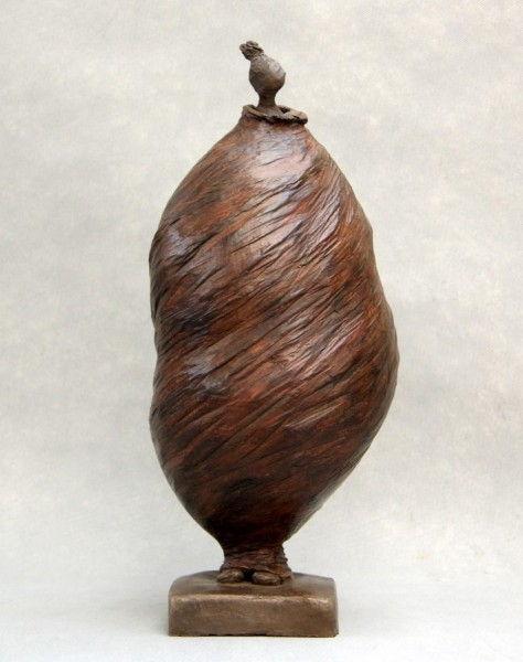 Sculpture Terre Cuite - Doudoune H47 cm