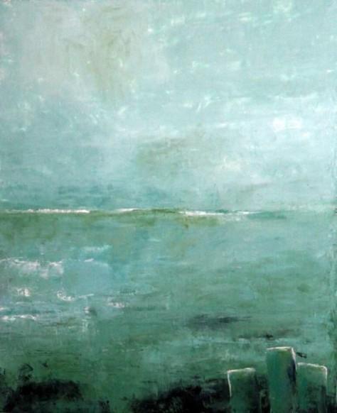 Peinture huile sur toile - Echos de l'eau