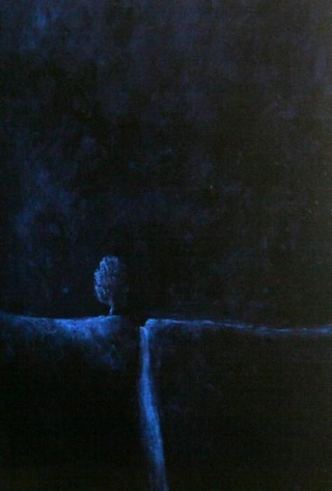 Peinture huile sur toile - Entre nous