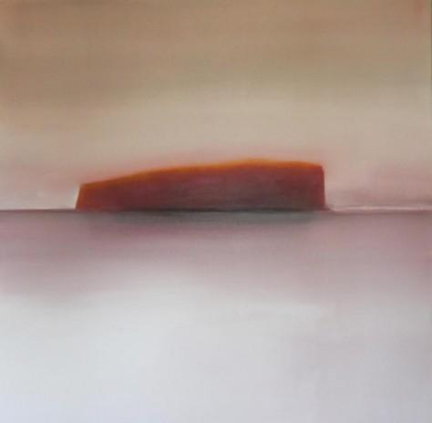 Ile flottante 100X100cm - Huile sur toile