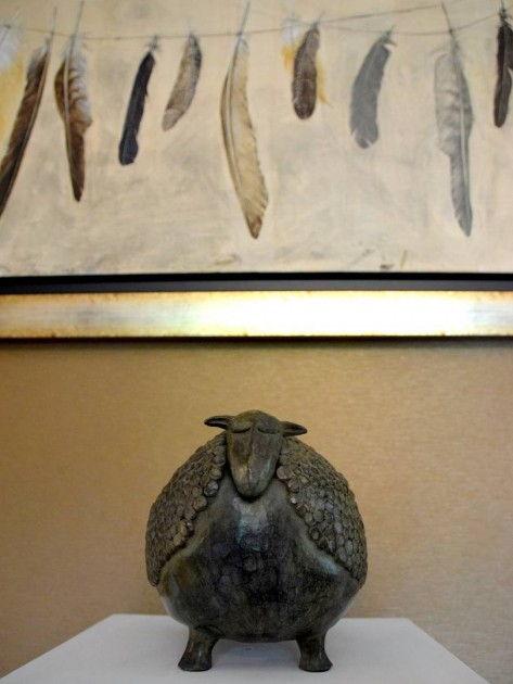 sculpture animalière Mouton