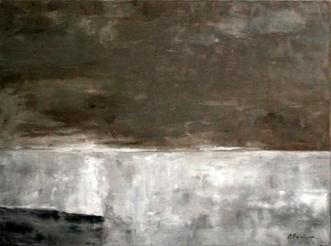 Peinture huile sur toile - Journée d'hiver