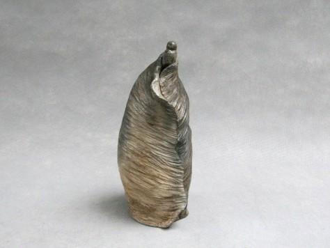 Sculpture Terre Cuite Personnage - Kimono Grey