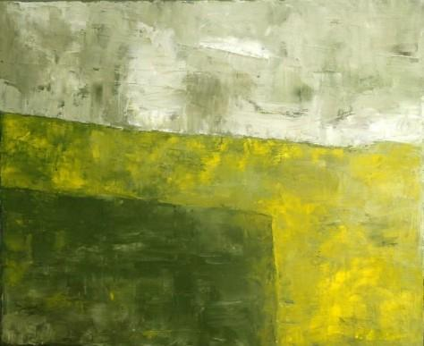 Peinture huile sur toile - La pluie l'été