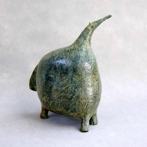 Sculpture bronze animalier - Le fourmilier l16 x L27 x H33 cm