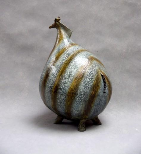 Sculpture bronze - Le zèbre H43 x l23 x L29