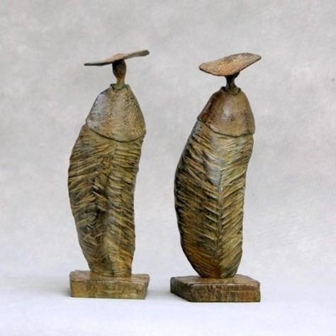 Sculptures Bronze personnage - Les filles H26 cm