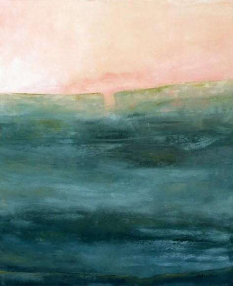Peinture huile sur toile - Matin rose