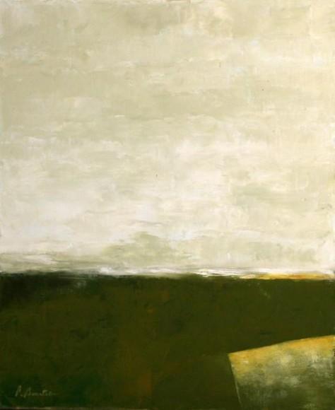 Peinture huile sur toile - Matin sur la route