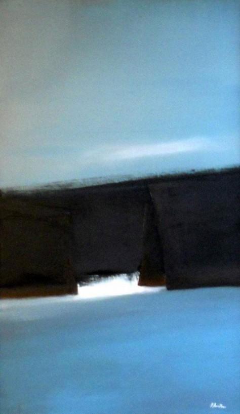 Huile sur toile - PASSAGE H55 x L33 cm