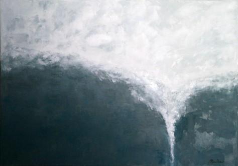 Peinture huile sur toile - Plongeon