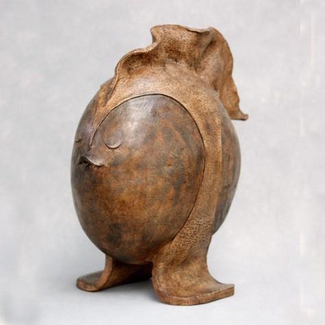 Sculpture terre cuite animalier - Poisson tranquille – H39 x L36 cm