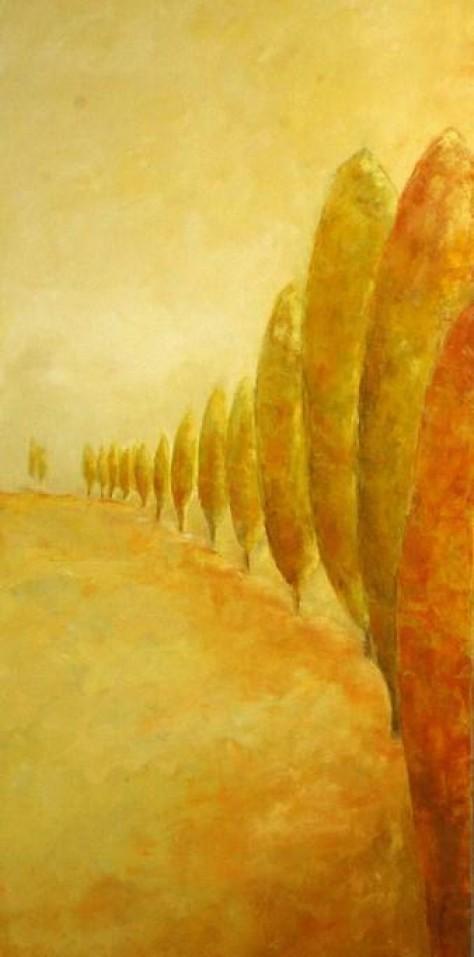 Peinture huile sur toile - Queue leu leu