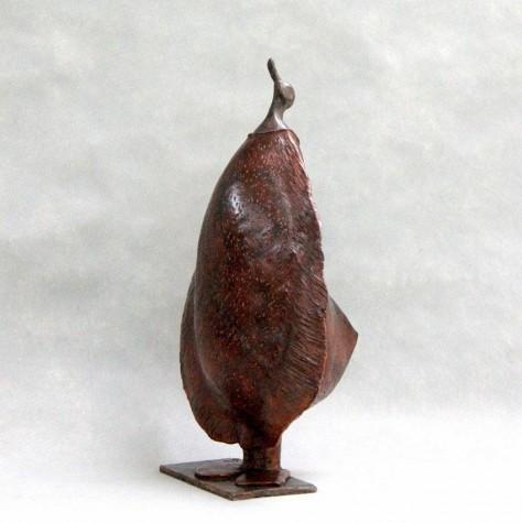 Sculpture terre cuite REVEUSE H50 x L36 cm