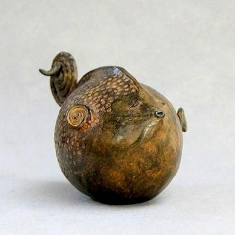 Sculpture bronze animalier - Roudoudou H12 cm