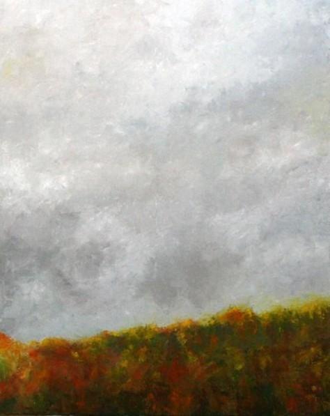 Peinture à l'huile sur toile - Route des crêtes