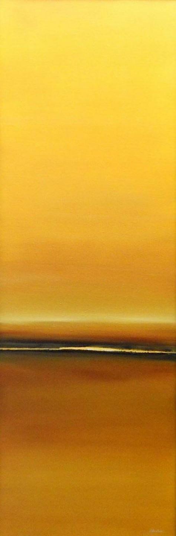 huile sur toile - SOLEIL SOLEIL H120 x L40 cm