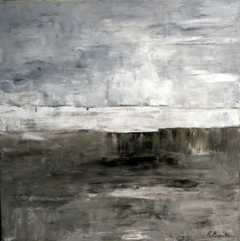 Peinture huile sur toile - Sur le lac