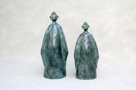 Sculpture personnage bronze - Ecoute