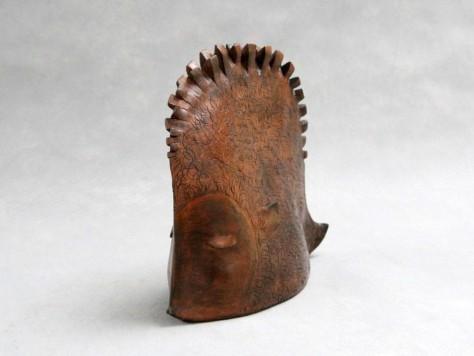 Sculpture terre cuite animalier Le gladiateur – H27 cm