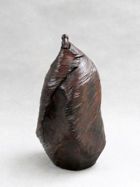 Sculpture terre cuite personage - Grand kimono - H35 cm