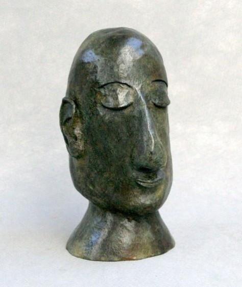 Sculpture bronze personnage - L'homme de Madrid