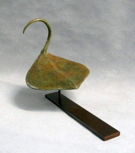 Sculpture personnage bronze - La raie