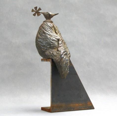 Sculpture bronze animalier - L'oiseau migrateur - H37 cm