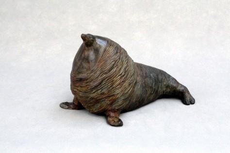 Sculpture bronze animalier - La belle otarie