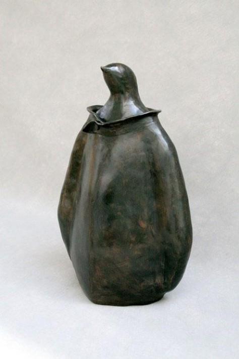 Sculpture bronze animalier - Pingouin Chic