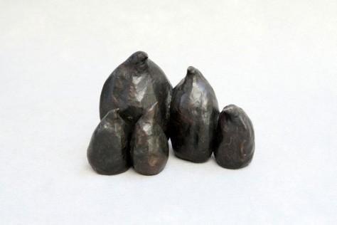 sculpture bronze animalier - Pingouins en famille